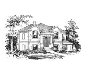 European House Plan 67790 Elevation