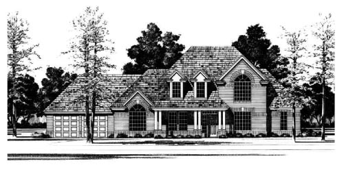 Traditional House Plan 67791 Elevation