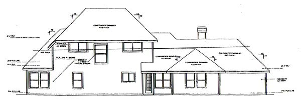Traditional House Plan 67791 Rear Elevation