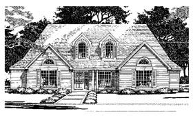 European House Plan 67794 with 4 Beds, 4 Baths, 2 Car Garage Elevation