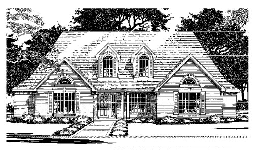 European House Plan 67794 Elevation