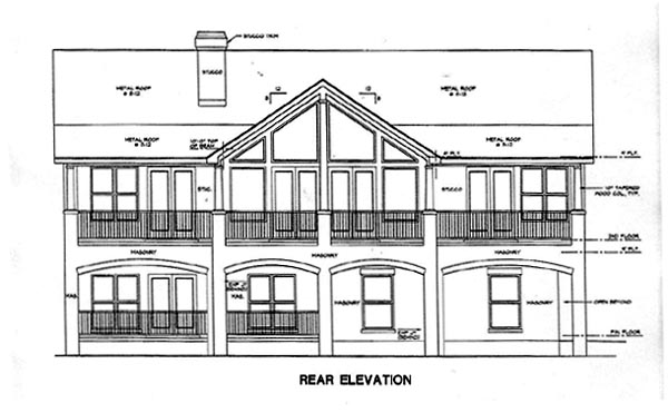 Contemporary House Plan 67795 Rear Elevation