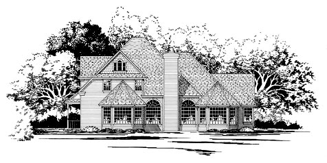Craftsman House Plan 67796 Rear Elevation