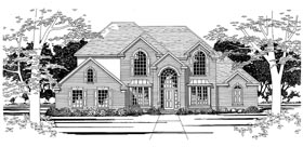 European House Plan 67797 with 4 Beds, 4 Baths, 2 Car Garage Elevation