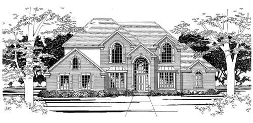 European House Plan 67797 Elevation