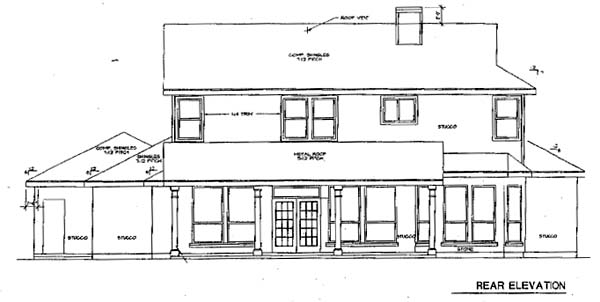 Traditional House Plan 67799 Rear Elevation