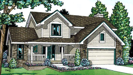 Country House Plan 67801 with 3 Beds, 3 Baths, 2 Car Garage Elevation
