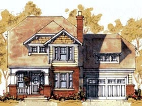 Craftsman House Plan 67802 with 4 Beds, 4 Baths, 2 Car Garage Elevation
