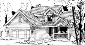 Traditional House Plan 67806 with 3 Beds, 3 Baths, 2 Car Garage Elevation