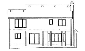 Traditional House Plan 67806 Rear Elevation