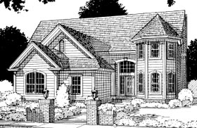 Traditional House Plan 67807 with 4 Beds, 3 Baths, 2 Car Garage Elevation