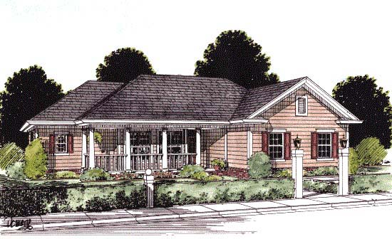 Traditional House Plan 67810 Elevation