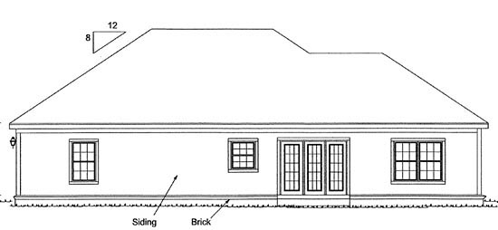 Traditional House Plan 67810 Rear Elevation