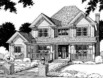 Farmhouse House Plan 67813 Elevation