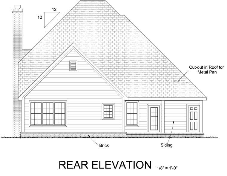 Farmhouse House Plan 67813 Rear Elevation