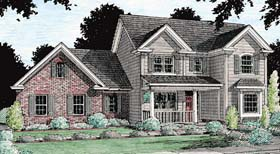 House Plan 67815   Country Traditional Style Plan with 1893 Sq Ft, 3 Bedrooms, 3 Bathrooms, 2 Car Garage Elevation