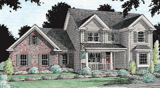 Country Traditional House Plan 67815 Elevation