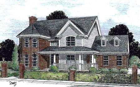 Farmhouse Southern House Plan 67816 Elevation
