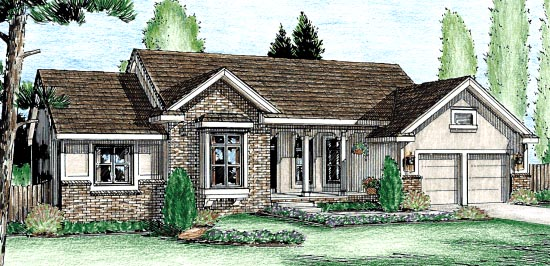 Traditional House Plan 67819 Elevation