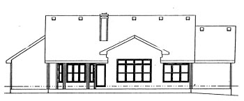 Traditional House Plan 67819 Rear Elevation