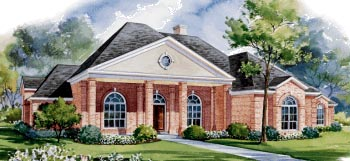 Colonial House Plan 67821 Elevation