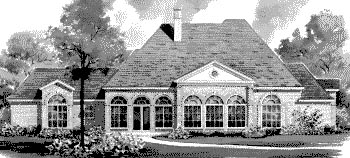 Colonial House Plan 67821 Rear Elevation