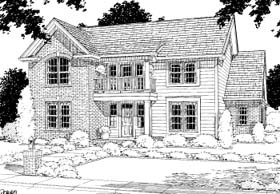 Traditional House Plan 67822 with 3 Beds, 3 Baths, 2 Car Garage Elevation