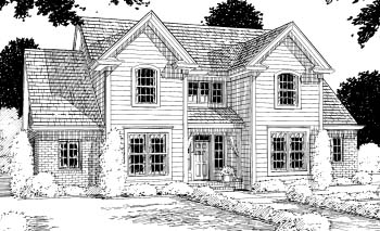 Traditional House Plan 67823 Elevation