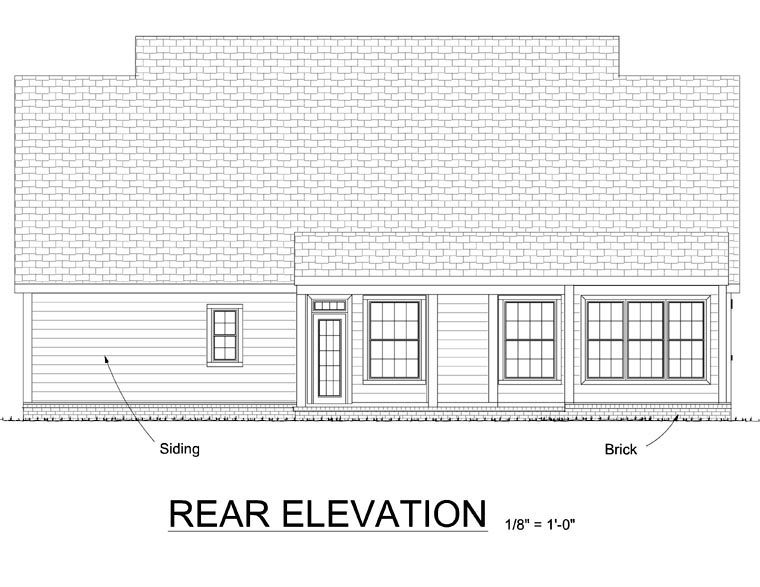 Traditional House Plan 67823 Rear Elevation