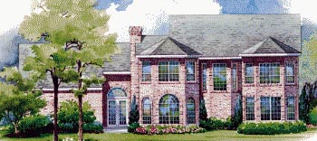 Colonial House Plan 67824 Rear Elevation