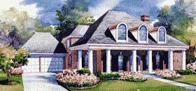 Colonial House Plan 67827 Elevation