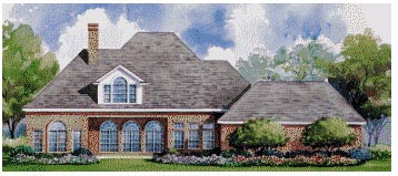 Colonial House Plan 67827 Rear Elevation
