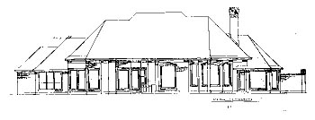 European House Plan 67830 with 3 Beds, 4 Baths, 3 Car Garage Rear Elevation