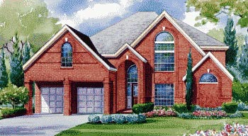 European House Plan 67831 with 4 Beds, 4 Baths, 3 Car Garage Elevation