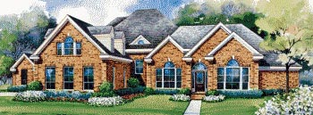European House Plan 67834 Elevation