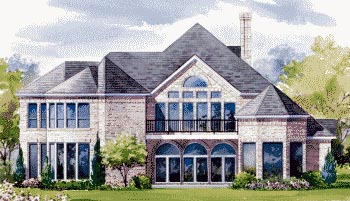 House Plan 67836 | Victorian Style Plan with 4534 Sq Ft, 3 Bedrooms, 3 Bathrooms, 3 Car Garage Rear Elevation