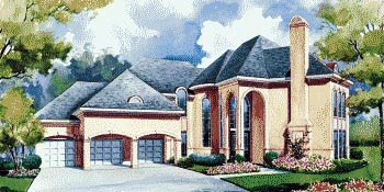 Mediterranean House Plan 67838 with 4 Beds, 4 Baths, 3 Car Garage Elevation