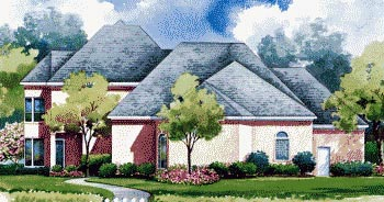 Mediterranean House Plan 67838 with 4 Beds, 4 Baths, 3 Car Garage Rear Elevation
