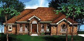 European House Plan 67840 Elevation