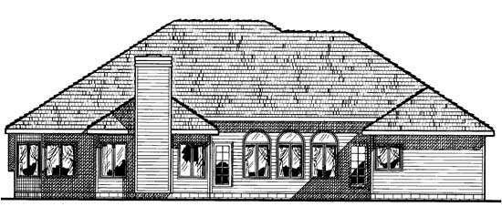 European House Plan 67840 Rear Elevation