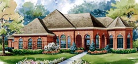 House Plan 67841 | European Style House Plan with 3734 Sq Ft, 3 Bed, 3 Bath, 3 Car Garage Elevation