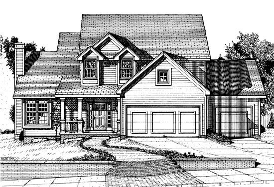 Country House Plan 67842 Elevation
