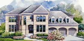 House Plan 67844 | European Style Plan with 4523 Sq Ft, 4 Bedrooms, 4 Bathrooms, 3 Car Garage Elevation