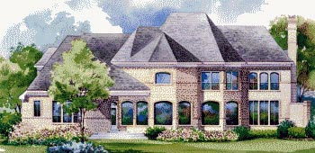 House Plan 67844 | European Style Plan with 4523 Sq Ft, 4 Bedrooms, 4 Bathrooms, 3 Car Garage Rear Elevation