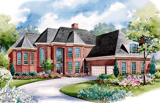 European House Plan 67845 Elevation