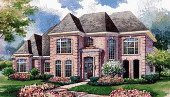 European House Plan 67846 Elevation