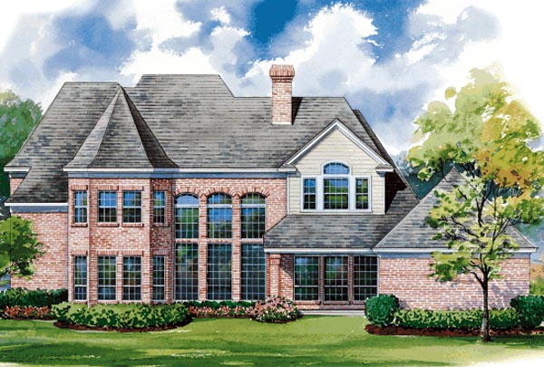 European House Plan 67846 Rear Elevation