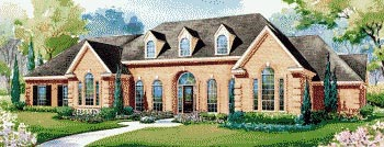 European House Plan 67849 with 4 Beds, 4 Baths, 3 Car Garage Elevation