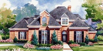European House Plan 67850 Elevation