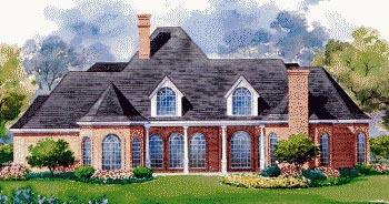 European House Plan 67850 Rear Elevation